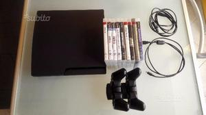 PS3 slim 160GB con 2 controller e 9 giochi