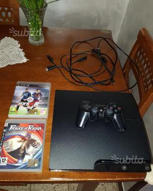 Ps3 slim 250 GB +2 giochi