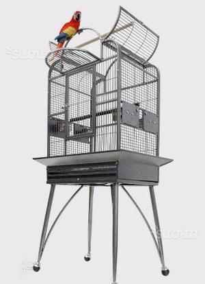 Gabbia voliera per uccelli deluxe 70x56x160cm