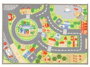 Sevi  - Tappeto con mappa del villaggio, 93 x 67 cm