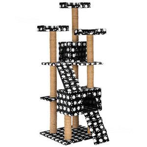 Tiragraffi nero con zampette bianche 169 cm