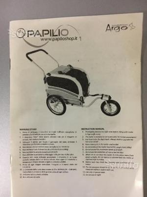 Trasportino rimorchio da bici per cani