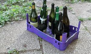 Bottiglie per vino usate