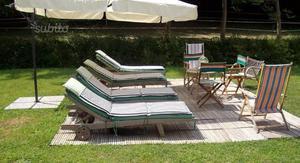 Materassini per lettini da campeggio parma posot class - Lettini per piscina ...