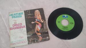 "Raro disco vinile lp 45 giri ""heather parisi""disco"