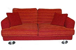 COPPIA di divani sfoderabile colore bordeaux