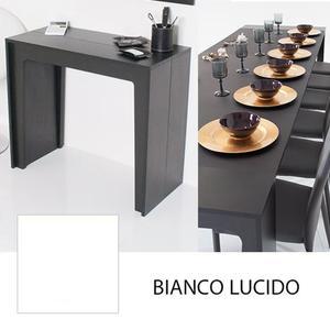 Consolle tavolo allungabile cm bianco lucido   Posot Class