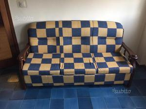 Panca letto giropanca divano letto in legno posot class - Divano letto country ...
