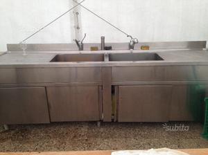Lavandino in acciaio professionale usato