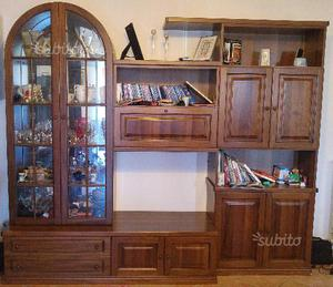 Soggiorno moderno in legno massello posot class - Soggiorno legno massello ...