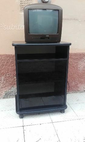 Porta tv nero moderno posot class - Porta tv nero ...