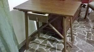 Tavolo artigianale in legno posot class for Tavolo espandibile