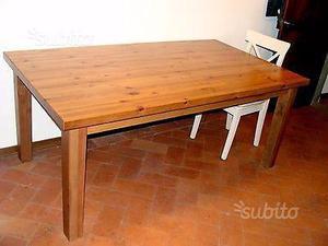Tavolo grande markor ikea scuro legno massello posot class - Tavolo grande legno ...