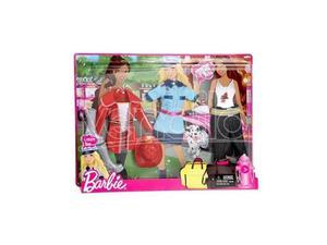 Barbie V - Confezione da 2 vestiti per Barbie, Pompiere