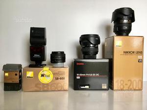 Nikon D300S + obbiettivi + flash