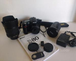 Nikon D80 + 3 obiettivi