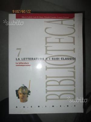 Libro intitolato Le Letteratura e i suoi classici