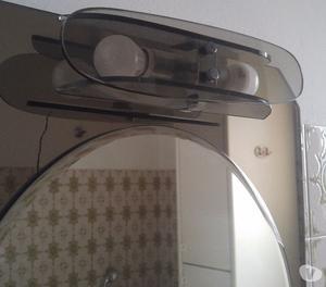 Specchiera specchio tondo bagno vintage