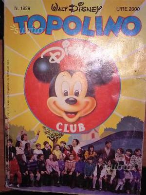 Topolino N°  club fumetto Disney