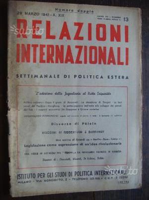 """Riviste """"Relazioni Internazionali""""  e"""