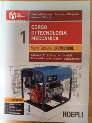 Libro nuovo Corso di tecnologia meccanica
