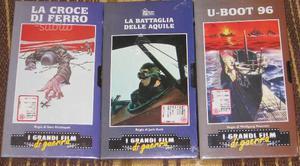 Lotto 3 VHS I Grandi Film di Guerra - Sigillati