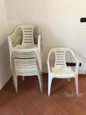 14 sedie in plastica da giardino