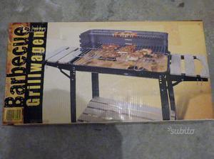 Barbecue grill a carbonella rettangolare