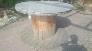 Bobine Rotoloni tavolo circolare marmo