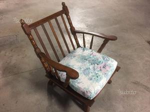 Coppia di sedie in legno, sedia a poltrona