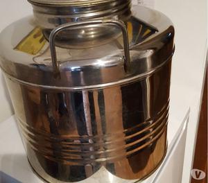 Damigiana Contenitore per olio o vino litri 30 in acciaio 18