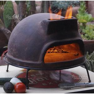 Barbecue forno a legna artigianale in acciaio posot class for Forno a legna per pizza fai da te