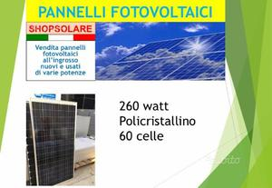 Pannelli fotovoltaici 260 watt policristallini