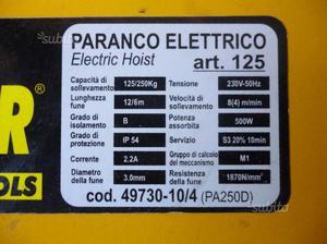 Paranco sollevatore per sollevamento infermi posot class for Paranco elettrico usato