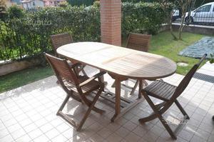 Set tavolo da giardino + 4 sedie