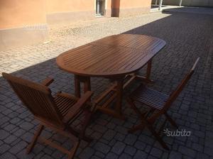 Tavolo 6 sedie 2 poltroncine