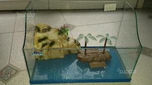 Acquario tartarughe vasca contenitore con posot class for Acquario per tartarughe con filtro