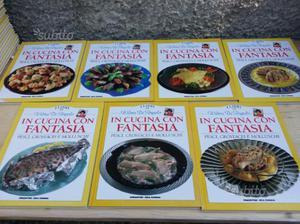 Libri di cucina pesce, carne, primi, dolci, vini