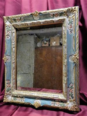 Cornice decorata in fimo e silicone posot class - Specchio antichizzato ...