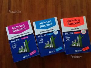 Set di 3 libri Alpha Test Bocconi nuovi