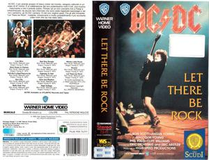 "Videocassetta AC/DC ""Let there be rock"""