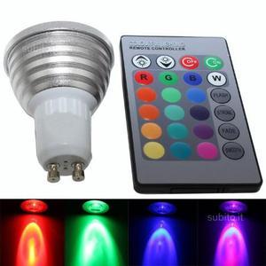 Lampada led dimmerabile 3w rgb con telecomando