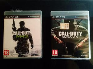 Call of Duty MWF3 e Call of Duty BlackOps PS3
