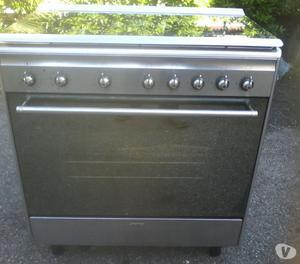 Smeg cucina inox 5 bruciatori con forno