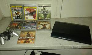 Sony PS3 Super Slim 12 Gb 7 giochi 2 Joypad
