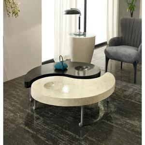 Tavolino Da Salotto In Due Elementi Su Ruote Yin &amp Yang
