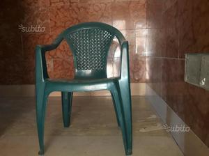 5 sedie in plastica