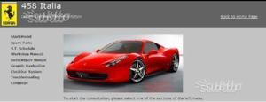Ferrari 458 manuale di officina riparazione