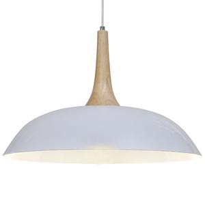 vidaXL Lampadario in legno e metallo bianco