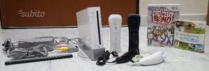 Console nintendo wii bianca + giochi e telecomandi